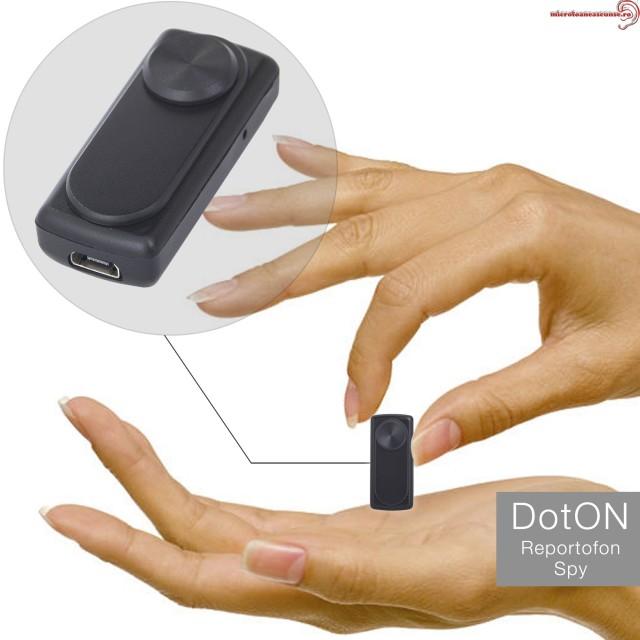 Mini Reportofon 8GB cu Activare Vocala, Autonomie 20 de Ore si Capacitate de Stocare 90 de Ore DOT-ON