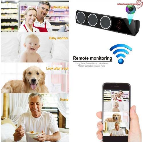 Boxa Bluetooth cu Mini Camera Spy, Filmare pe Timp de Noapte, Wi-Fi, IP, P2P, Rezolutie Video 4K