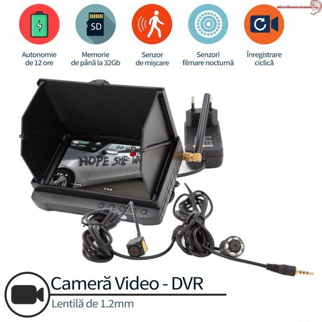 Camera spy anti-vandalism autoturisme, protectie completa, senzor de miscare, 32 gb