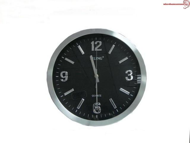Ceas de perete cu mini modul spion reportofon - 70 de ore de inregistrari 4Gb