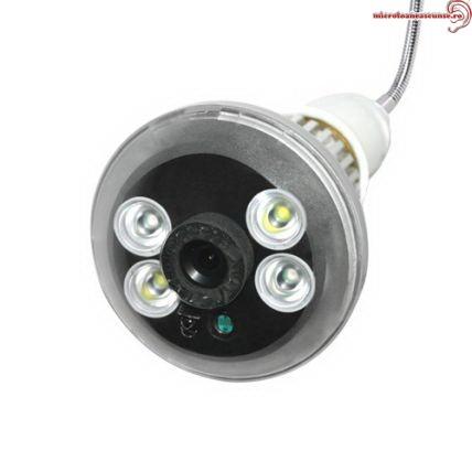 Bec spionaj camera video cu senzor de miscare