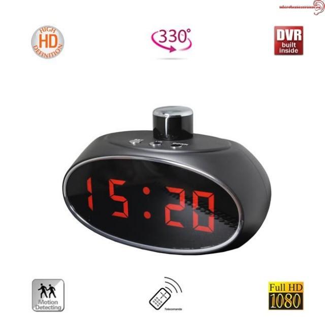 Camera Spy DVR cu Unghi de 330Grade Integrata in Ceas de Birou