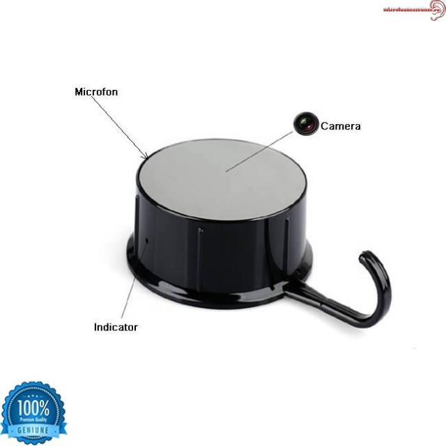 Camera DVR WI-fi ascunsa in cuier cu lentila incorporated