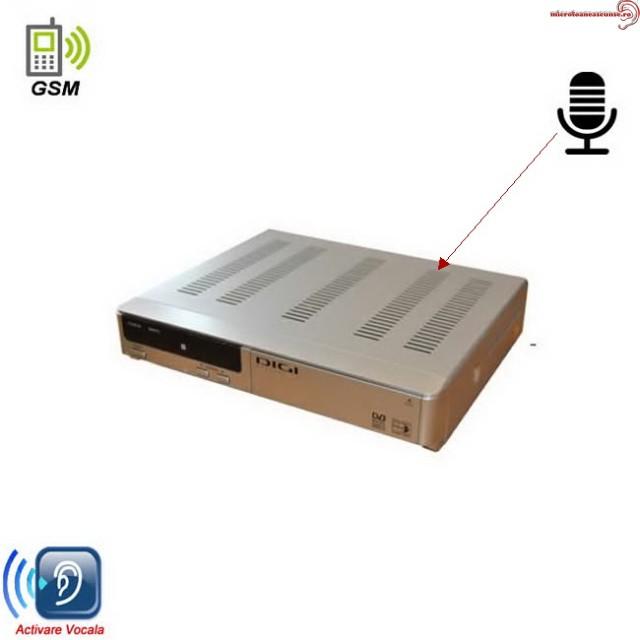 Microfon Gsm Spion cu activare vocala mascat in Decodor TV