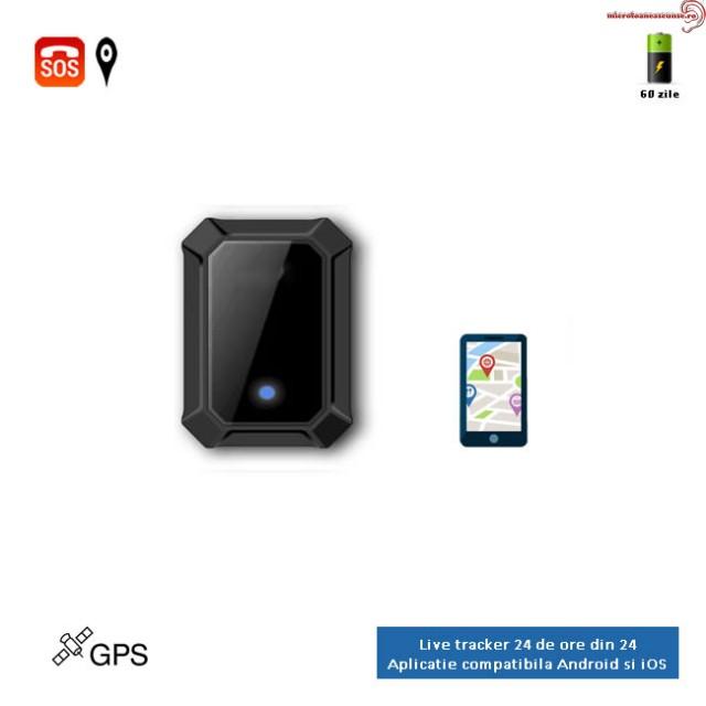 Localizator GPS Profesional Tracker cu autonomie 2 luni, aplicatie iOS + Android,aplicare magnetica, istoric 90 de zile, model GPS60MAG