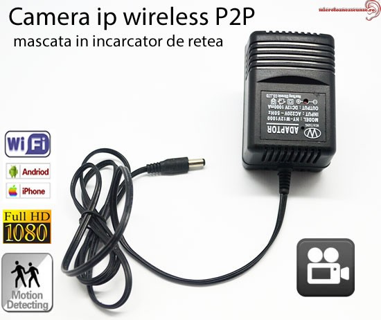 Incarcator spy microcamera IP wireless