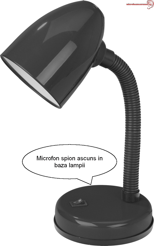 Lampa de birou microfon spy cu detectie voce