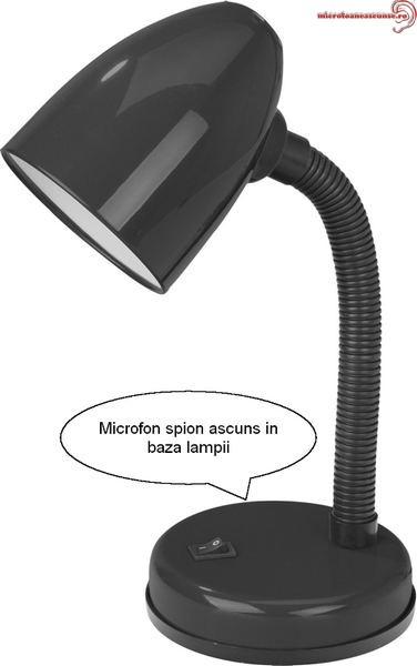Veioza birou (lampa) microfon spy hibrid – reportofon + GSM spion – Activare Vocala –profesional 141 ore VLHACCOMB141