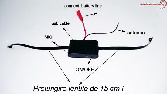 Microcamera modul spy cu 2 lentile, detector de miscare