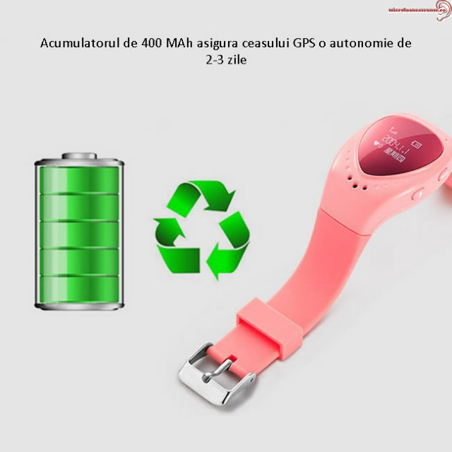 Ceas cu MINILOCALIZATOR GPS pentru copii, functie SOS, initializare apel + aplicatie pe Android si iOS ,model CGAB78