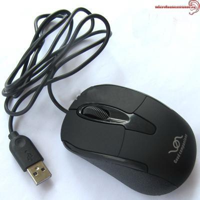 Mouse cu microfon spion hibrid GSM cu activare voce + reportofon 4772 ore MORIB008