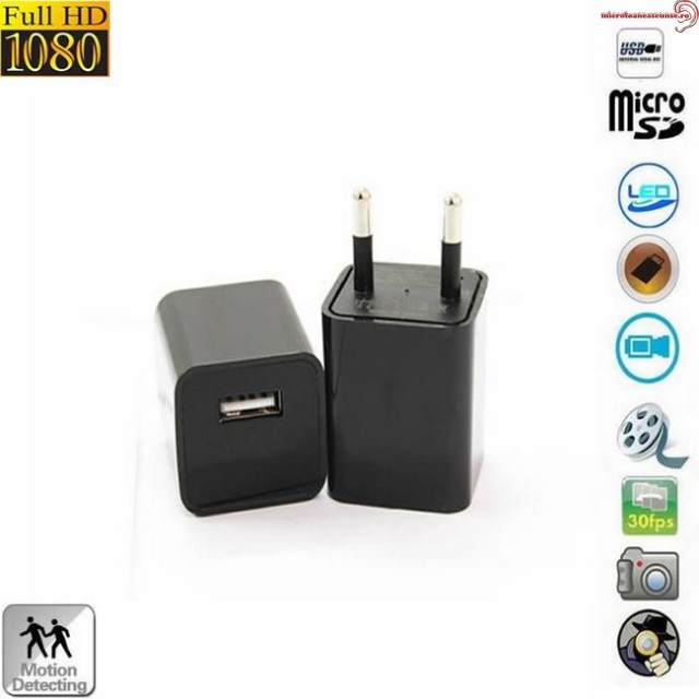 Incarcator USB de telefon cu mini camera spy integrata