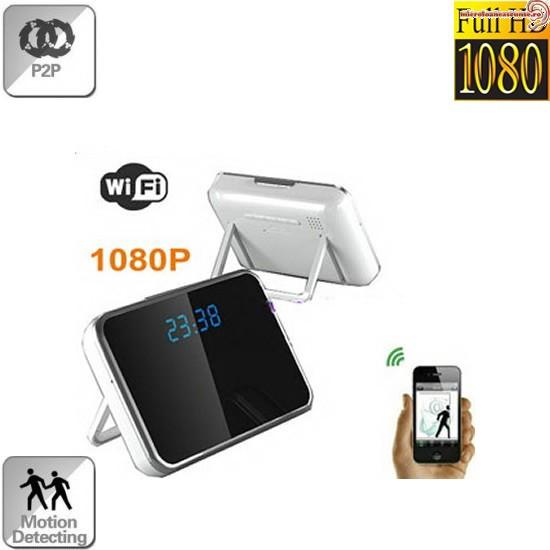 Microcamera spion wi-fi ip p2p ascunsa in ceas de birou,senzor miscare,32Gb,1080p