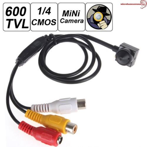 Camera video spion CCTV, Pinhole ,sunet, 600 TVL