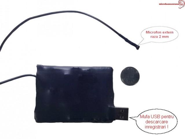 Microfon spion cu inregistrare - 2mm - 548 de ore autonomie - X-tend