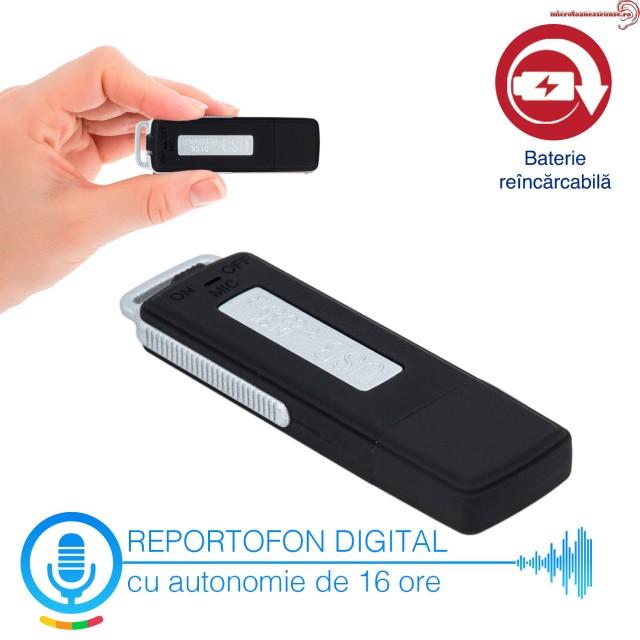Reportofon Spy Mascat în Stick USB Memorie 4GB, Model RMVR4GB