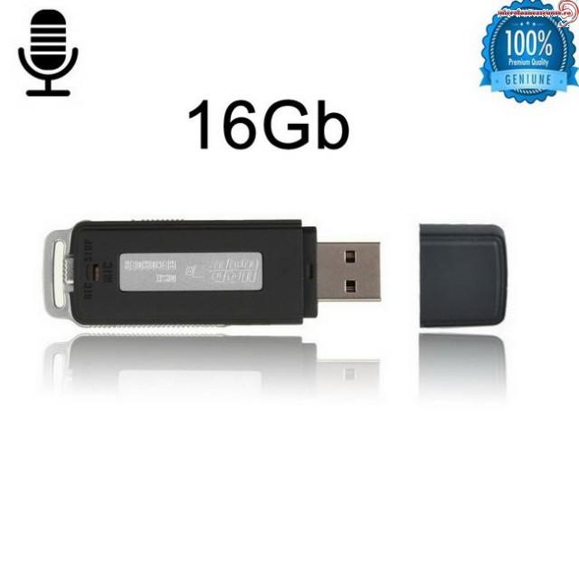 Stick USB cu mini reportofon mascat clar  – 16 Gb