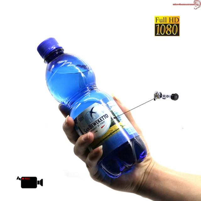 Camera video pentru spionaj  DVR ascunsa in sticla de apa 500ml, Rezolutie 1920x1080p, 32Gb
