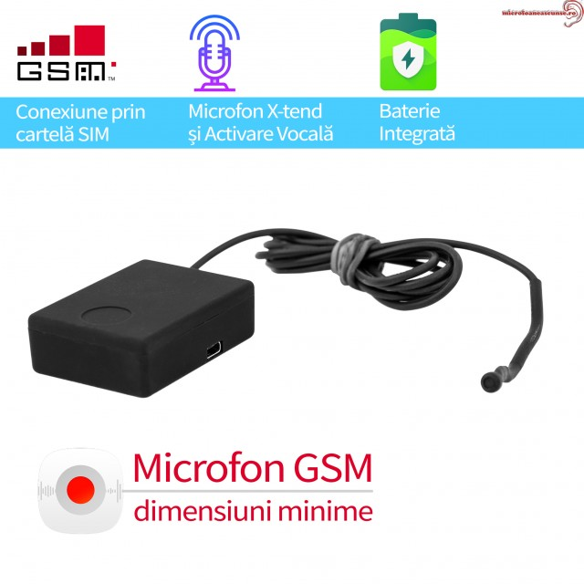 Microfon GSM  profesional ultraclear cu detectie vocala X-tend EAR1