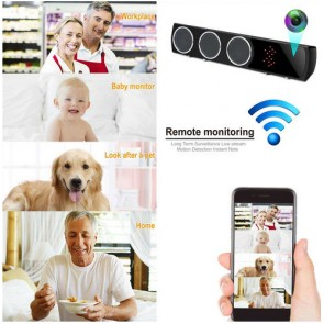 Boxa Bluetooth cu Mini Camera Spy, Filmare pe Timp de Noapte, Wi-Fi, IP, P2P, Rezolutie Video 4K