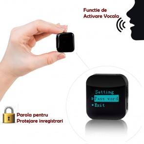 Mini Reportofon Spion cu Activare Vocala si Parola De Protectie 4GB-286 de ore - 1536 kbps