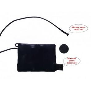 Reportofon spion micro 2mm BB2000EXVA8GB  - detectie voce ,7 zile autonomie