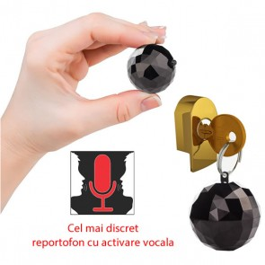 Breloc de Chei Reportofon Spion cu Activare Vocala Camuflare Perfecta - 32 Ore Autonomie Baterie - 4GB - 67 de Ore