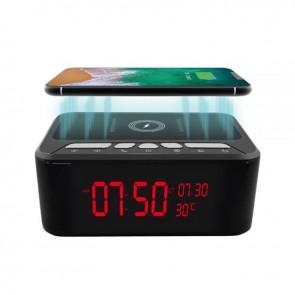 Ceas de Birou cu Boxe Bluetooth,Wi-FI, IP,DVR, Functie Suplimentara de  Incarcator Wireless, Rezolutie Video 1920x1080P, 128GB, Night Vision