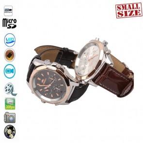 Mini camera pentru spionaj discret mascata in ceas de mana
