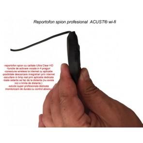 Modul mini reportofon spion profesional IP Wi-Fi + ascultare live pe Internet ACUST®