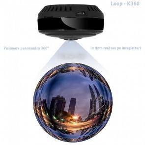 Minicamera Video pentru Spionaj 360 de Grade, WiFi IP, HD, Unghi Lentila 180°