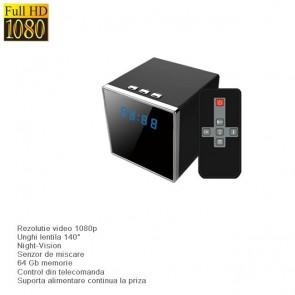 Microcamera video DVR pentru spionaj mascata in ceas de birou desteptator