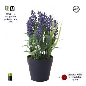 Ghiveci pentru flori cu microfon hibrid profesional gsm cu activare vocala si reportofon 2999 ore MINRIB00GH