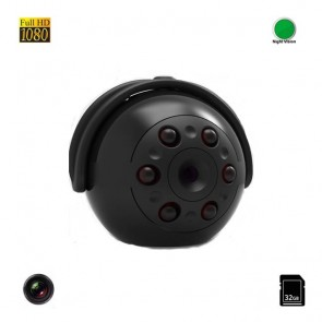 Nume *  Mini Camera Video Spy FULL HD 360° , 1080P, Senzor de Miscare, Nightvision, 32 GB MCSQ9