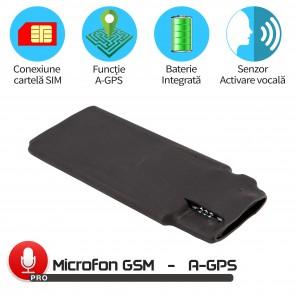 Modul Microfon GSM Spion cu Activare Vocala Setabila+ AGPS, Autonomie 48 de zile, Model MN11MAX+