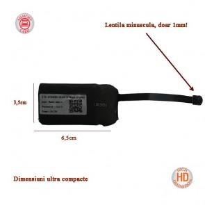 Microcamera DVR, WI-FI, Compacta - IP, P2P, 1920x1080p, Lentila 1MM