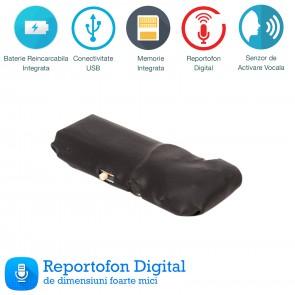 Cel mai mic modul de reportofon spion cu activare vocala , 7 grame – 8 Gb Sublimo-8GbVA