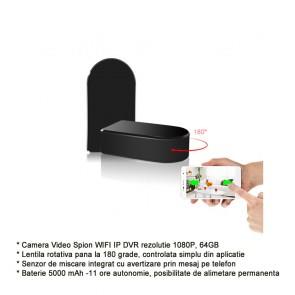 Modul Camera Spy pentru Vizualizare in Timp Real, Rezolutie Video 1920x1080p, Lentila Mobila 180 Grade