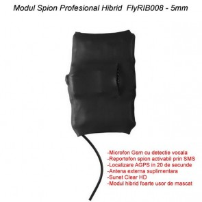 Mini Modul microfon spy hibrid profesional cu modul gsm cu activare + reportofon + AGPS ,magnet , FLYRIB008 ,2750 ore