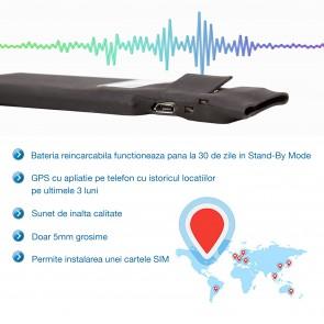 Tracker GPS Profesional cu autonomie 30 de zile, localizare in timp real prin aplicatie mobila pentru Android si IOS, istoric 90 de zile, PILLCO30