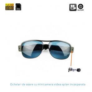 Ochelari de soare cu mini camera video spion full HD, 32Gb