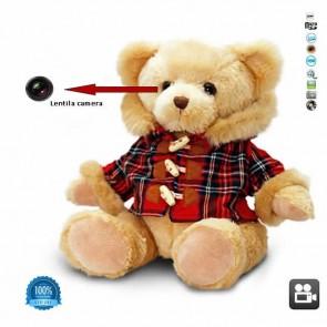 Camera spy 1280x720p mascata cu senzor de miscare in ursulet jucarie